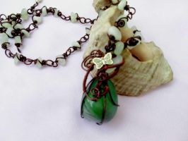 Jade aventurin necklace by Mirtus63