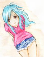 Request: A girl with blue hair~ by 2regretless7