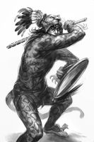 Hillfolk: Jaguar Warrior by Merlkir