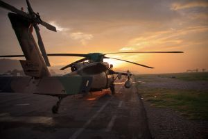 Sunset on the flightline by raiznhel