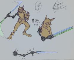 Lightsabers arm designs by MZ8zone