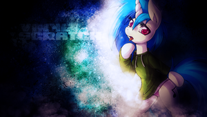 Vinyl Scratch in a Sweatshirt by SandwichDelta