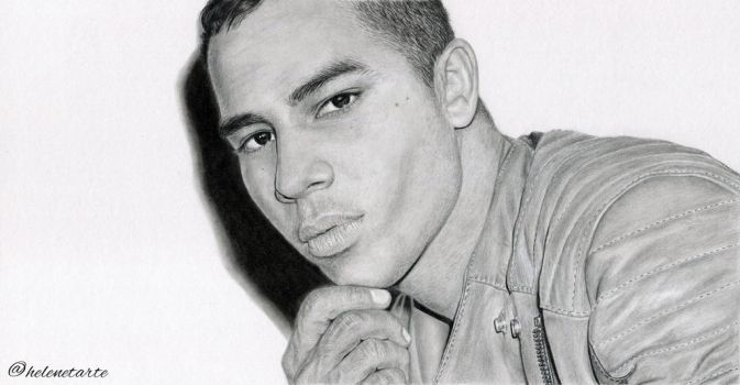 Olivier Rousteing. photo reference: Ezra Petronio by helenetarte