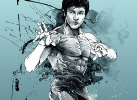 WIP - Cool blue Bruce Lee by thefreshdoodle