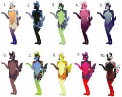 Hyena Adoptables Wave 3 of 3 by Candyfoxy