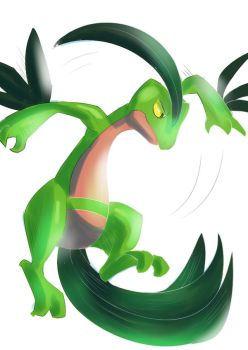 9. Grovyle attack by ColorsAreAwesome