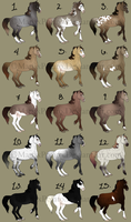 Mare Adopts batch 3 (1 left) (REDUCED PRICES) by MatrixPotato