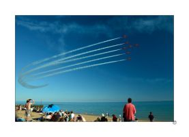 Red Arrows Hastings Pirate Day Fly-by by thejamcascru