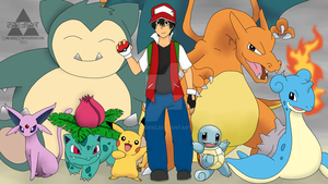 Pokemon Trainer Red - Commission by Linkage92