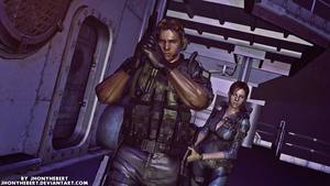 Chris and Jill - Resident Evil Revelations by JhonyHebert