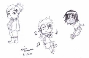 Kicsa, Fairce, and Luko-chibi by The-Child-of-Heart