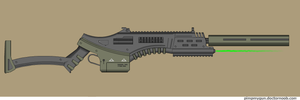 Actaregh battle rifle, caseless by Robbe25