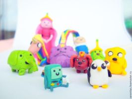 Adventure Time Polymer clay by MayaSerenitas