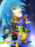++ Kingdom Hearts II, colored+ by Banryuunokizu