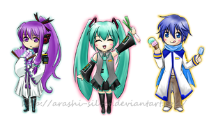 3 Little Vocaloids by kayitea