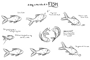 A Day in the Life of a Fish by KatRaccoon