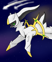 Arceus, the god of pokemon by alexiakhodanian