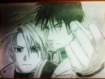 Roy Mustang and Riza Hawkeye by Kouji134