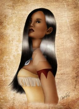 Pocahontas in Color by madmoiselleclau