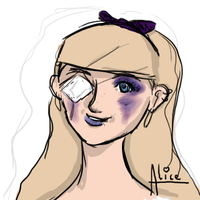 'Alice' face concept doodle by MorphicLunatic
