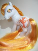 The Pony on Fire, a Hunger Games pony by LuckyLittleClover