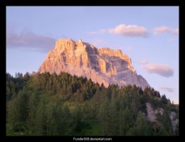 Pink and green rock montain by Fundor333