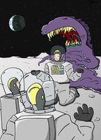 Moon aliens and astronaughts by The-Mack