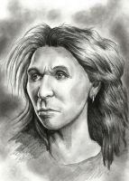 Neanderthal woman by Mihin89