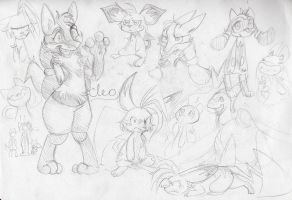 Pokemon sketches by mmishee