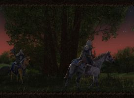 Elves passing through the Shire. by LotROLaurelin