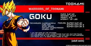 Warriors of Toonami: Goku by JPReckless2444