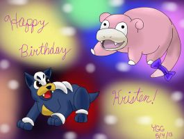 Happy Birthday from Button and Happy Day by YoshiGamerGirl