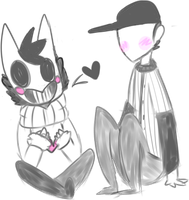 Zacharie x Batter sketch by SilentZacharie