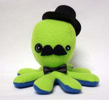 Green gentleman octopus plush by jaynedanger