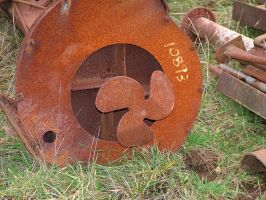 rusty ol propeller by JensStockCollection