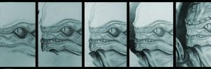 Wrex drawing by DavidEllisArtwork