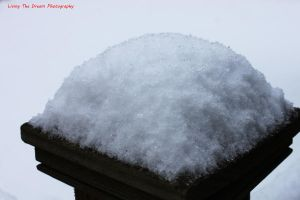 snow on a post by firegal01