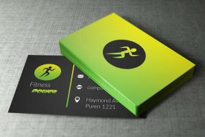 Fitness Business Cards Design by BorceMarkoski