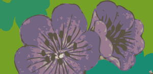 Purple Flower Vector by arsgrafik