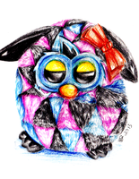 Furby Boom - Colored Pencils by bunniesRawesome