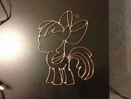2D Wire pony  AppleBloom by Cruise-Control