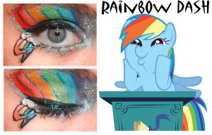 Makeup Is Magic Rainbow Dash by nazzara