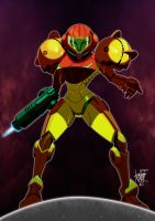 Samus Aran posed by manukongolo