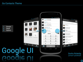 Go Contacts Theme - Google UI by kingdonnaz