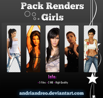 Girls render pack #1 by Andriandreo