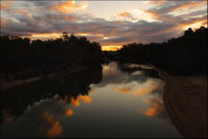 Echuca sunset reflections 1 by wildplaces
