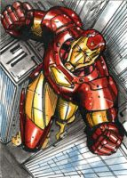 Ironman sketchcard by Csyeung