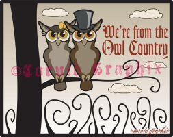 Owl Country Shirt Design by black-brd