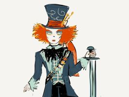 Hatter (with a sword) by JudytaDragon