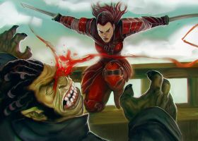 Alaina fighting by Corbella